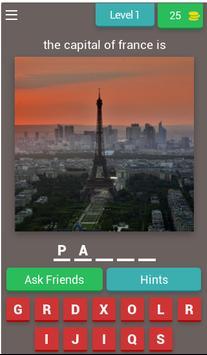 World Capitals Quiz poster