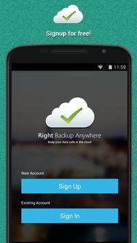 Right Backup Anywhere ảnh chụp màn hình 1