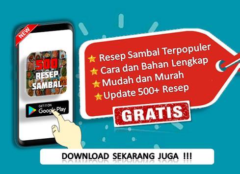 500 Resep Sambal poster