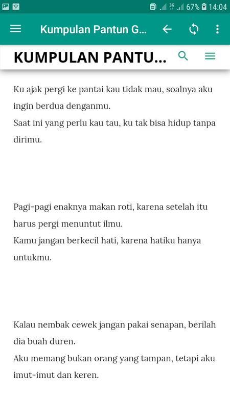 Pantun Gombal Untuk Wanita Kumpulan Pantun Gombal For Android APK Download 1322