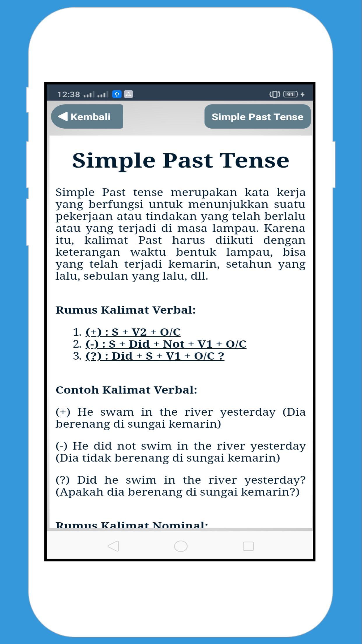 Kamus Tenses Offline – Tenses Formula in English for Android