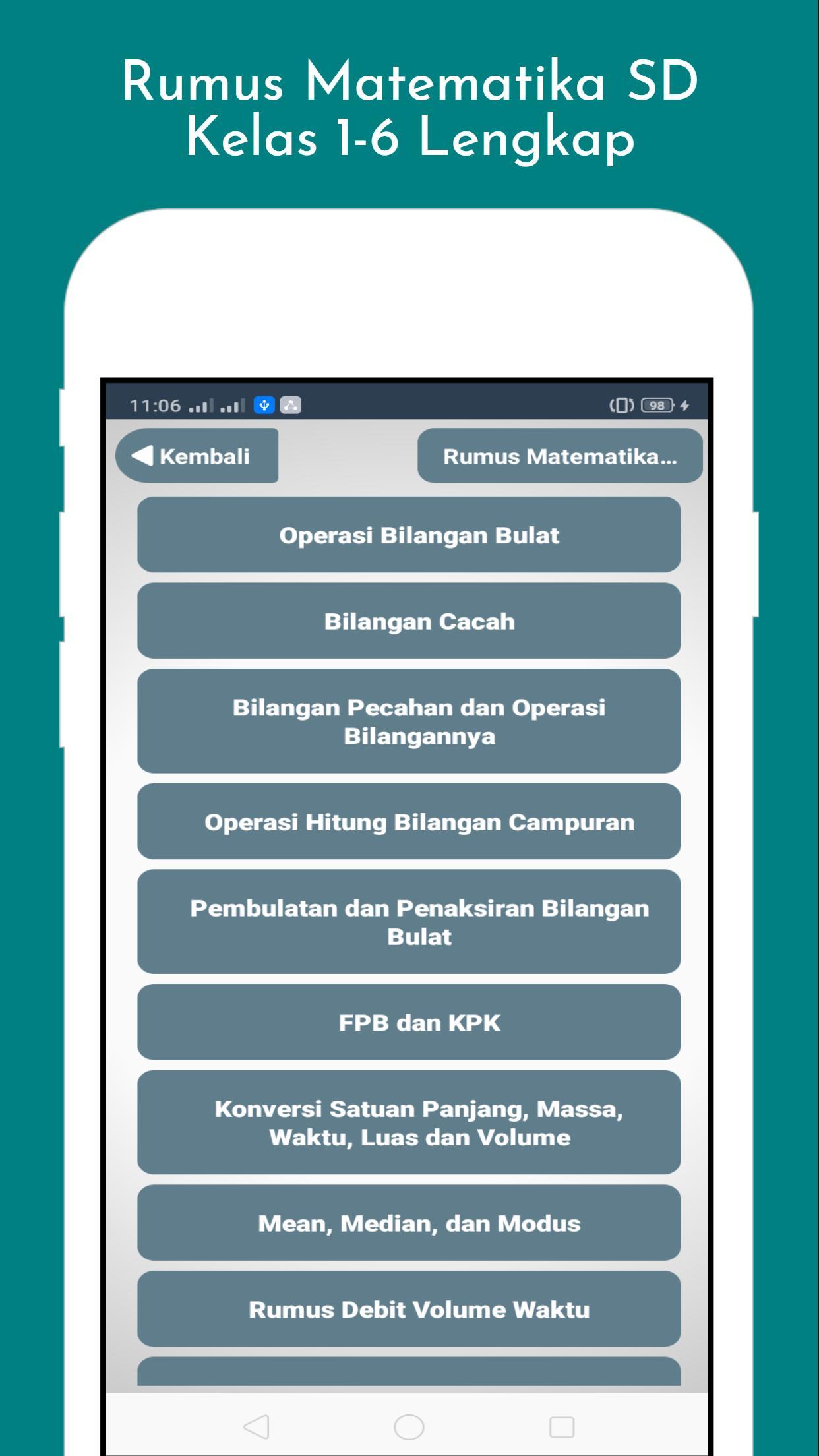 Rumus Matematika Untuk Sd Lengkap Offline Para Android Apk Baixar