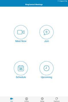 RingCentral Meetings captura de pantalla 5