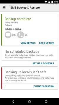 SMS Backup & Restore poster