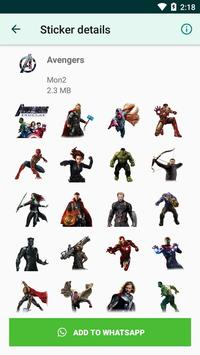 Avengers Stickers for WhatsApp (WAStickerApp) screenshot 2