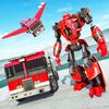 机器人 火 战斗机 拯救 卡车 图标