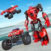 Fliegend Roboter Monster Lastwagen Schlacht 2019 Zeichen