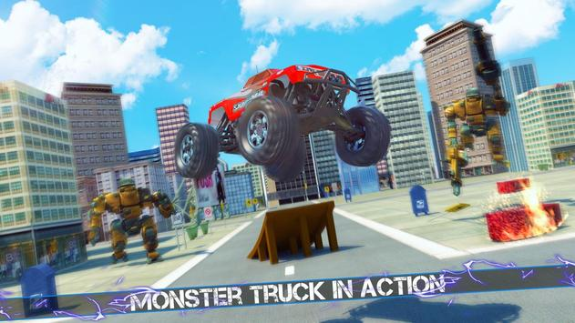 Flying Robot Monster Truck Battle 2019 screenshot 11