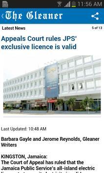Jamaica Gleaner screenshot 1