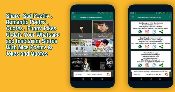 Status Update For Whatsappinstagram For Android Apk Download