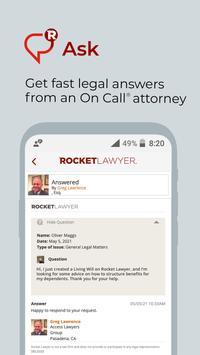 Rocket Lawyer captura de pantalla 10