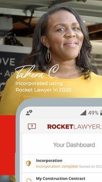 Rocket Lawyer captura de pantalla 7