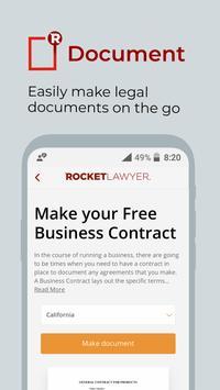 Rocket Lawyer captura de pantalla 9