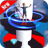 Helix Spiral Jumper-Hero Rolling & Bouncing Game icon
