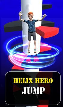 Helix Spiral Jumper-Hero Rolling & Bouncing Game poster