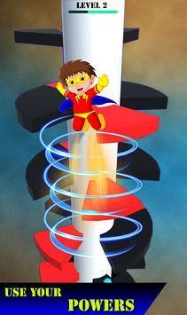 Helix Spiral Jumper-Hero Rolling & Bouncing Game screenshot 2