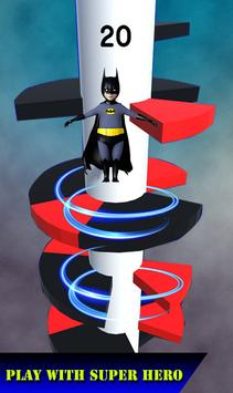Helix Spiral Jumper-Hero Rolling & Bouncing Game screenshot 4