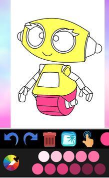 Robot coloring book screenshot 4