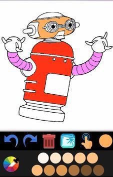 Robot coloring book screenshot 2