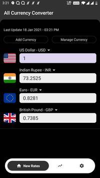 All Currency Converter Pro captura de pantalla 4