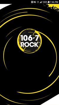 106.7 ROCK Lethbridge poster