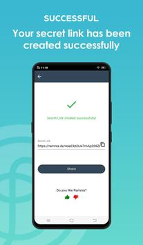 Self Destructing Text Messages And Files - Ramnia syot layar 1