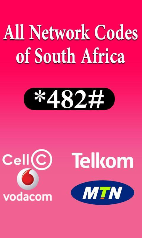 All Importan codes of South Africa network Sim for Android