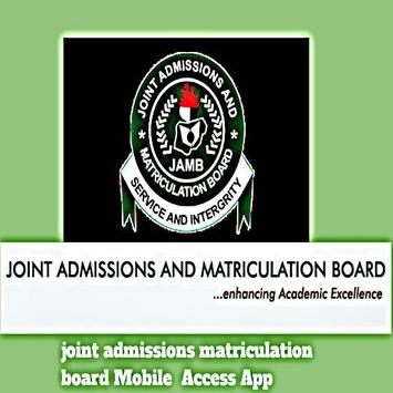 joint admissions matriculation board Mobile App poster