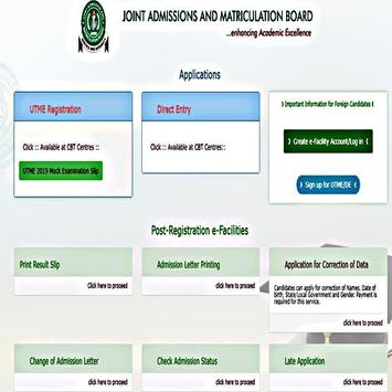joint admissions matriculation board Mobile App screenshot 1