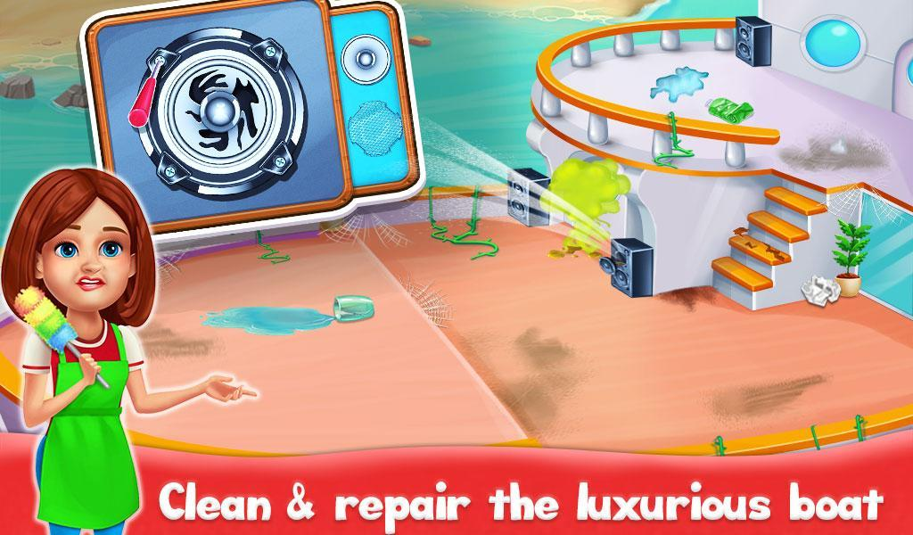 Big Home Cleanup and Wash : House Cleaning Game poster