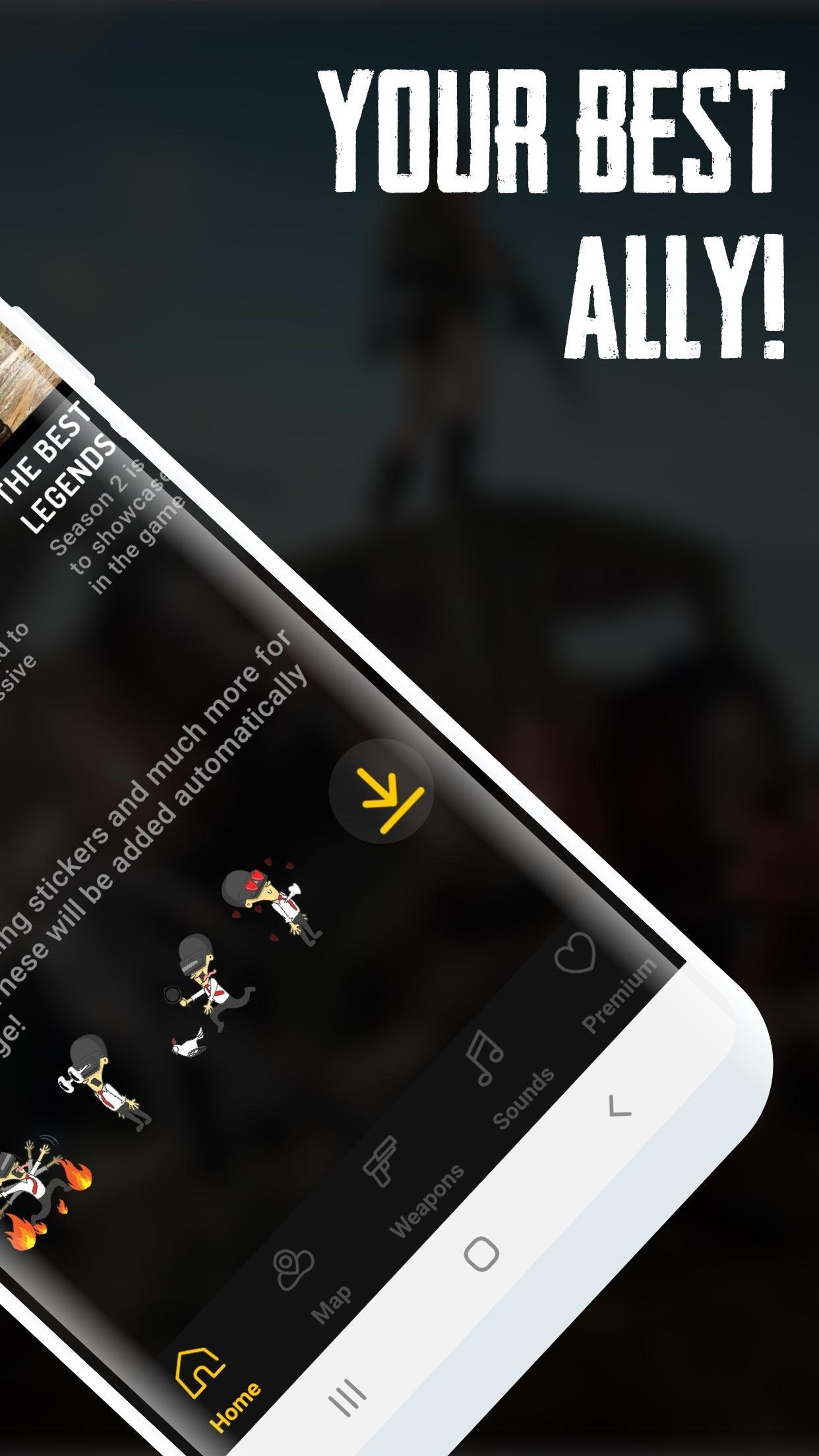 Companion for PUBG Mobile - Map, Stickers & Sounds for