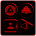 Black and Red Icon Pack v4.6 👻Free👻