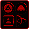 Black and Red Icon Pack ✨Free✨-icoon