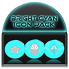 Bright Cyan Icon Pack ✨Free✨-icoon