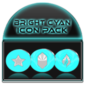 Bright Cyan Icon Pack ✨Free✨ icono