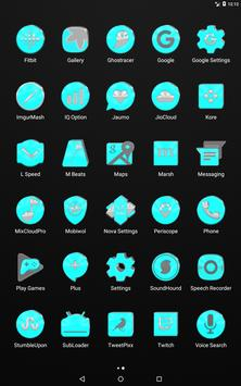Bright Cyan Icon Pack ✨Free✨ captura de pantalla 10