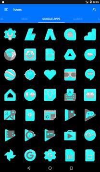 Bright Cyan Icon Pack ✨Free✨ captura de pantalla 19