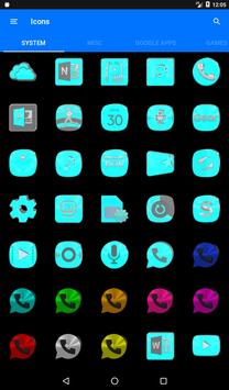 Bright Cyan Icon Pack ✨Free✨ captura de pantalla 20