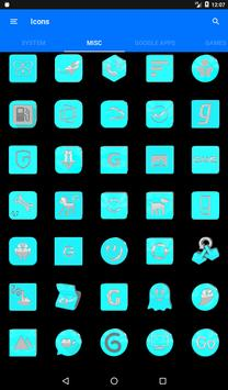 Bright Cyan Icon Pack ✨Free✨ captura de pantalla 22