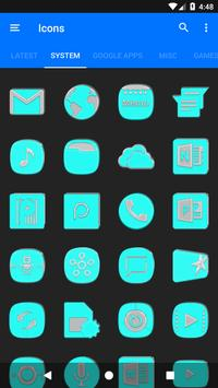 Bright Cyan Icon Pack ✨Free✨ captura de pantalla 4