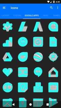 Bright Cyan Icon Pack ✨Free✨ captura de pantalla 6