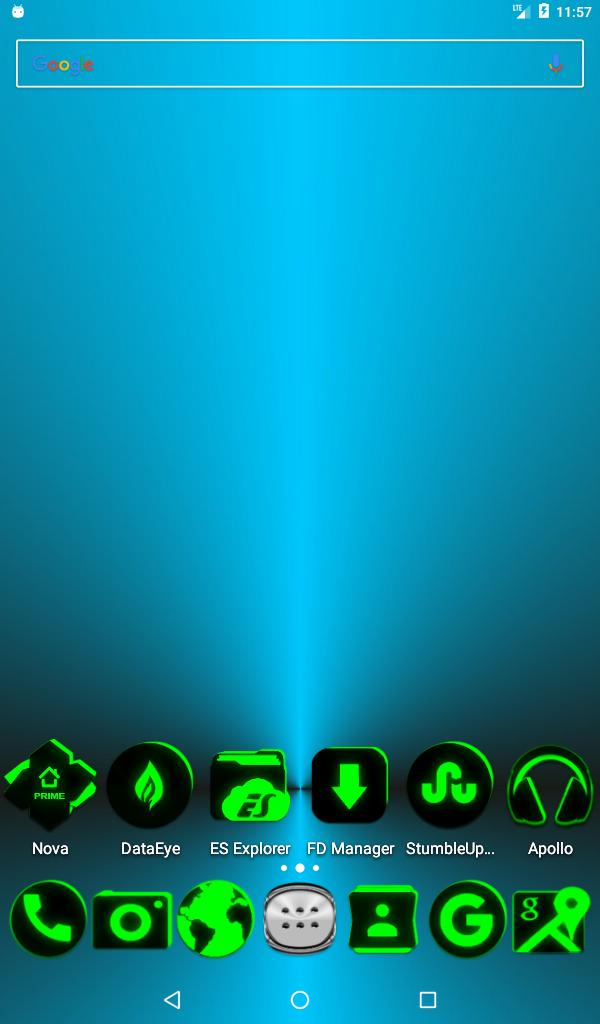 Flat Black and Green Icon Pack ✨Free✨ for Android - APK Download