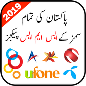 Pakistan All Sim SMS Packages 2019 icon