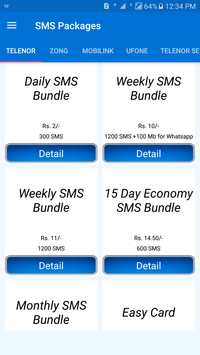Pakistan All Sim SMS Packages 2019 poster
