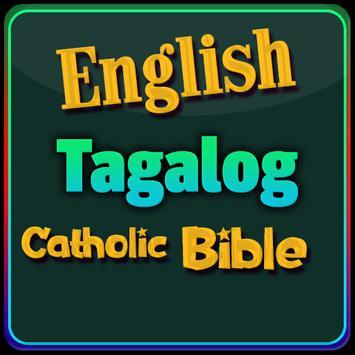 English Tagalog Catholic Bible poster