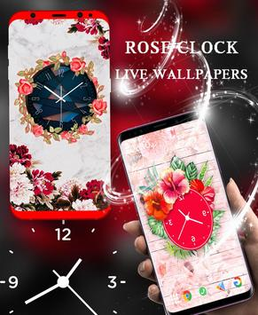 Rose Live Clock Wallpapers : Rose Backgrounds 2019 screenshot 4