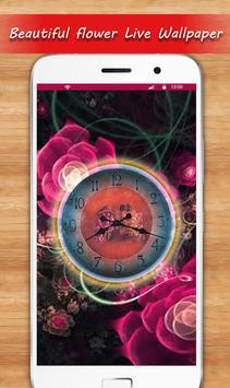 Rose Live Clock Wallpapers : Rose Backgrounds 2019 screenshot 8