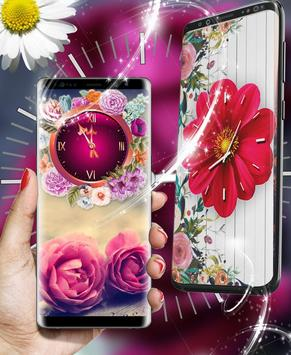 Rose Live Clock Wallpapers : Rose Backgrounds 2019 screenshot 2