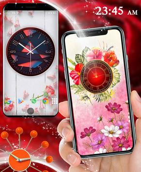 Rose Live Clock Wallpapers : Rose Backgrounds 2019 screenshot 3
