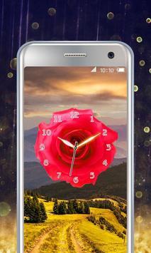 Rose Flower Clock poster
